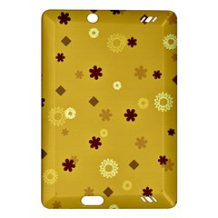 Abstract Geometric Shapes Design in Warm Tones Kindle Fire HD (2013) Hardshell Case