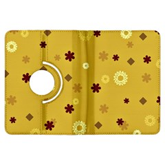 Abstract Geometric Shapes Design in Warm Tones Kindle Fire HDX Flip 360 Case