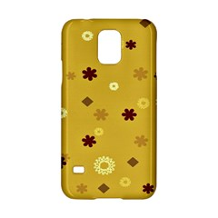 Abstract Geometric Shapes Design in Warm Tones Samsung Galaxy S5 Hardshell Case