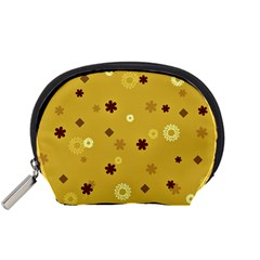 Abstract Geometric Shapes Design in Warm Tones Accessory Pouch (Small)
