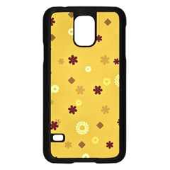 Abstract Geometric Shapes Design in Warm Tones Samsung Galaxy S5 Case (Black)