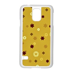 Abstract Geometric Shapes Design in Warm Tones Samsung Galaxy S5 Case (White)