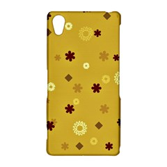 Abstract Geometric Shapes Design in Warm Tones Sony Xperia Z2 Hardshell Case