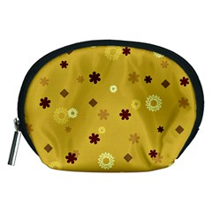 Abstract Geometric Shapes Design in Warm Tones Accessory Pouch (Medium)