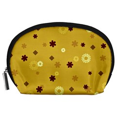 Abstract Geometric Shapes Design in Warm Tones Accessory Pouch (Large)