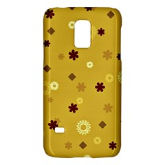 Abstract Geometric Shapes Design in Warm Tones Samsung Galaxy S5 Mini Hardshell Case