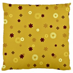 Abstract Geometric Shapes Design In Warm Tones Large Flano Cushion Case (one Side)