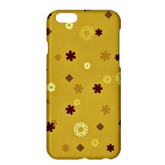 Abstract Geometric Shapes Design in Warm Tones Apple iPhone 6 Plus Hardshell Case