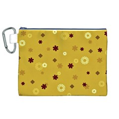 Abstract Geometric Shapes Design In Warm Tones Canvas Cosmetic Bag (xl)