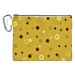 Abstract Geometric Shapes Design in Warm Tones Canvas Cosmetic Bag (XXL)