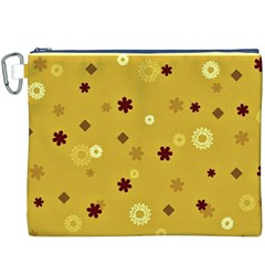 Abstract Geometric Shapes Design in Warm Tones Canvas Cosmetic Bag (XXXL)
