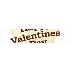 Heart Shaped Happy Valentine Day Text Design Flano Scarf (Small)
