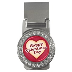 Heart Shaped Happy Valentine Day Text Design Money Clip (cz)