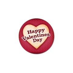 Heart Shaped Happy Valentine Day Text Design Golf Ball Marker 10 Pack