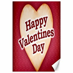 Heart Shaped Happy Valentine Day Text Design Canvas 12  X 18  (unframed)