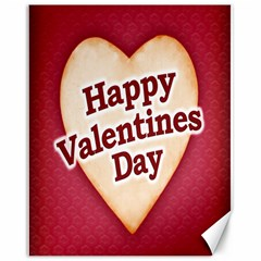 Heart Shaped Happy Valentine Day Text Design Canvas 16  X 20  (unframed)