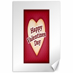 Heart Shaped Happy Valentine Day Text Design Canvas 24  X 36  (unframed)
