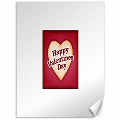 Heart Shaped Happy Valentine Day Text Design Canvas 36  x 48  (Unframed)