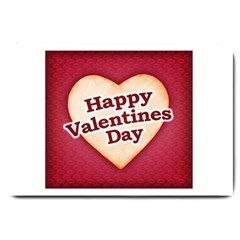 Heart Shaped Happy Valentine Day Text Design Large Door Mat