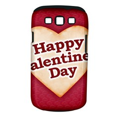 Heart Shaped Happy Valentine Day Text Design Samsung Galaxy S III Classic Hardshell Case (PC+Silicone)