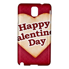 Heart Shaped Happy Valentine Day Text Design Samsung Galaxy Note 3 N9005 Hardshell Case