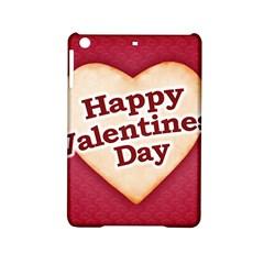 Heart Shaped Happy Valentine Day Text Design Apple iPad Mini 2 Hardshell Case