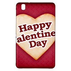 Heart Shaped Happy Valentine Day Text Design Samsung Galaxy Tab Pro 8.4 Hardshell Case