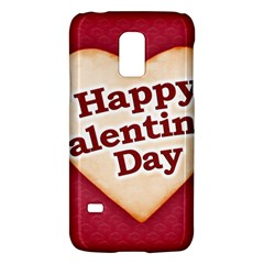 Heart Shaped Happy Valentine Day Text Design Samsung Galaxy S5 Mini Hardshell Case