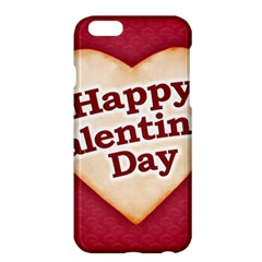 Heart Shaped Happy Valentine Day Text Design Apple iPhone 6 Plus Hardshell Case