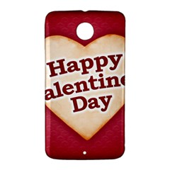 Heart Shaped Happy Valentine Day Text Design Google Nexus 6 Case (White)