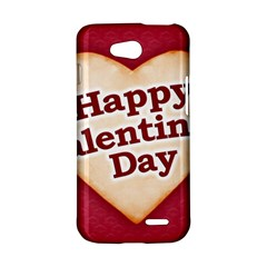 Heart Shaped Happy Valentine Day Text Design LG Optimus L90 Hardshell Case