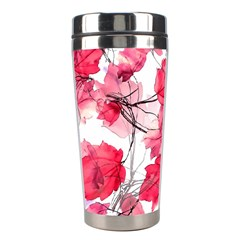 Floral Print Swirls Decorative Design Stainless Steel Travel Tumbler