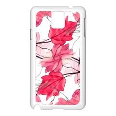 Floral Print Swirls Decorative Design Samsung Galaxy Note 3 N9005 Case (White)