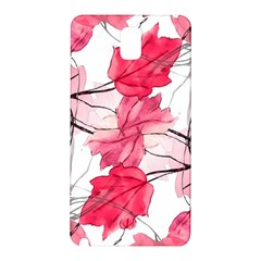 Floral Print Swirls Decorative Design Samsung Galaxy Note 3 N9005 Hardshell Back Case