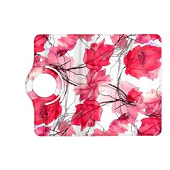 Floral Print Swirls Decorative Design Kindle Fire Hd (2013) Flip 360 Case