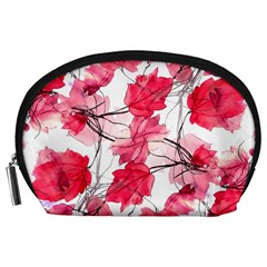 Floral Print Swirls Decorative Design Accessory Pouch (Large)
