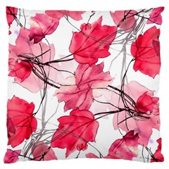 Floral Print Swirls Decorative Design Large Flano Cushion Case (One Side)