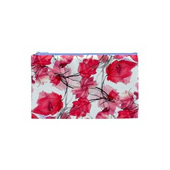 Floral Print Swirls Decorative Design Cosmetic Bag (XS)