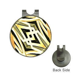 Art Print Tribal Style Pattern Hat Clip with Golf Ball Marker