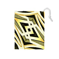 Art Print Tribal Style Pattern Drawstring Pouch (Medium)