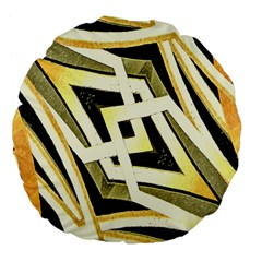 Art Print Tribal Style Pattern 18  Premium Flano Round Cushion