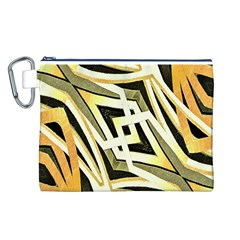 Art Print Tribal Style Pattern Canvas Cosmetic Bag (Large)