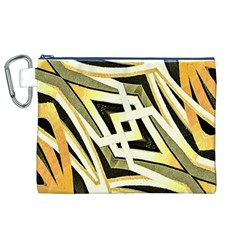 Art Print Tribal Style Pattern Canvas Cosmetic Bag (XL)