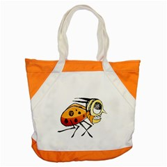 Funny Bug Running Hand Drawn Illustration Accent Tote Bag