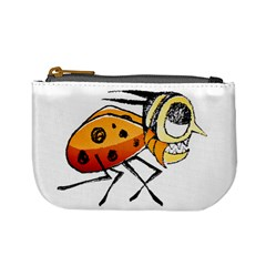 Funny Bug Running Hand Drawn Illustration Coin Change Purse