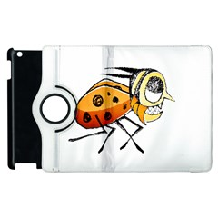 Funny Bug Running Hand Drawn Illustration Apple iPad 3/4 Flip 360 Case