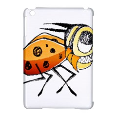 Funny Bug Running Hand Drawn Illustration Apple iPad Mini Hardshell Case (Compatible with Smart Cover)