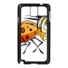 Funny Bug Running Hand Drawn Illustration Samsung Galaxy Note 3 N9005 Case (Black)