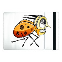 Funny Bug Running Hand Drawn Illustration Samsung Galaxy Tab Pro 10.1  Flip Case