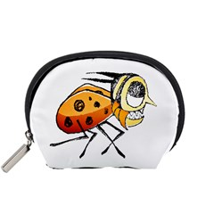 Funny Bug Running Hand Drawn Illustration Accessory Pouch (small)